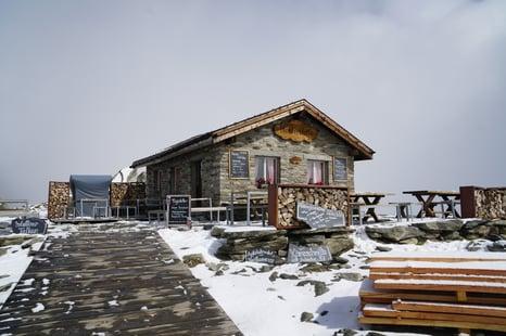 Hütte im Aletschgebiet