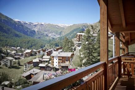 Chalet mit Aussicht auf Zermatt