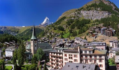 Aussicht auf Zermatt